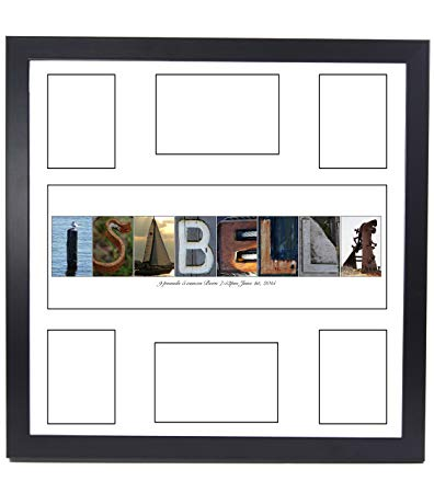 Personalized Children's Guest Registry Signature Mat with 6 Opening Name Collage, 20 by 20 inch Frame Included - Exclusively By Creative?