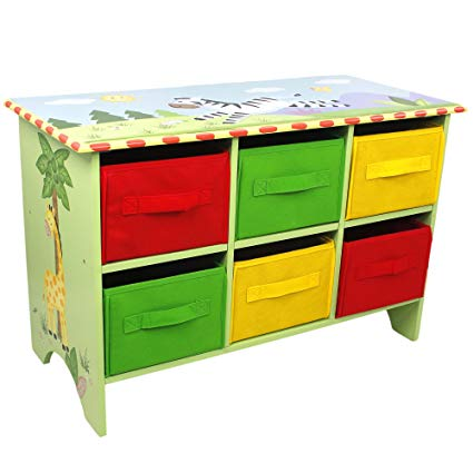 Fantasy Fields - Sunny Safari Animals Thematic Storage Cubby Base Set | Imagination InspiringHand Crafted & Hand Painted Details Non-Toxic, Lead Free Water-based Paint