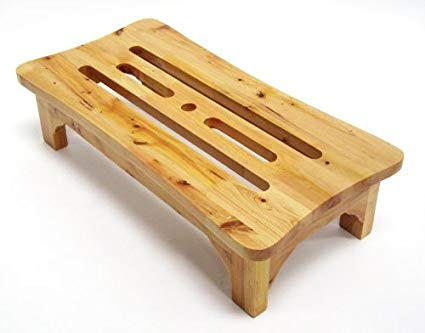 ALFI brand AB4408 24-Inch Solid Wood Stepping Stool for Easy Access