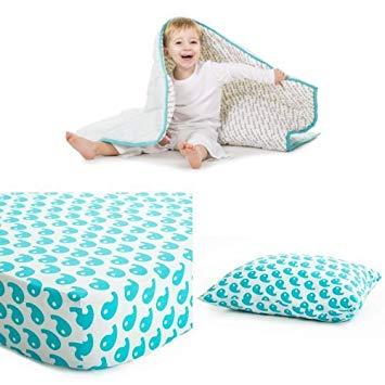 Baby Deedee Toddler Bedding Set, Dream Blue