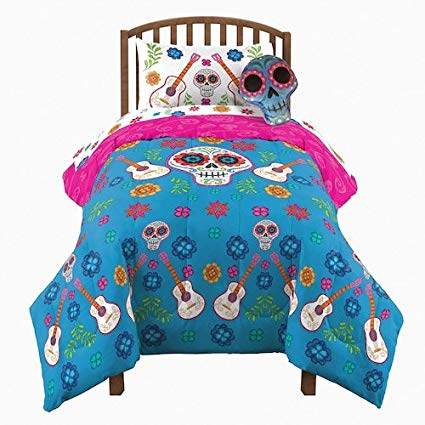 Disney's Coco Twin / Full Comforter with Twin Sheet Set and Pillow