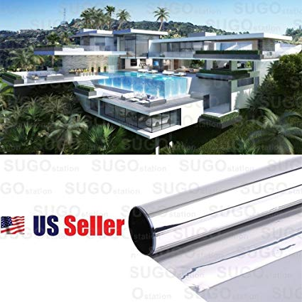 Sugo 3FT x 100FT Premium One Way Mirror Privacy Reflection Window Tint Film Energy Saver 35% VLT