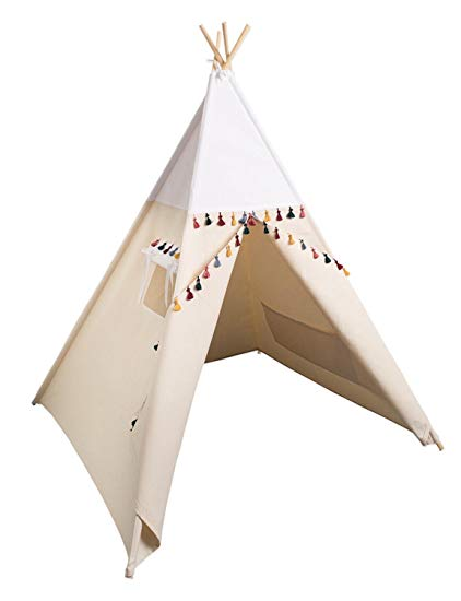 Teepee Tent, Kids Teepee Teepee Tent, Kids Play Tent Tipi from Cozydots made in UE (boho white)