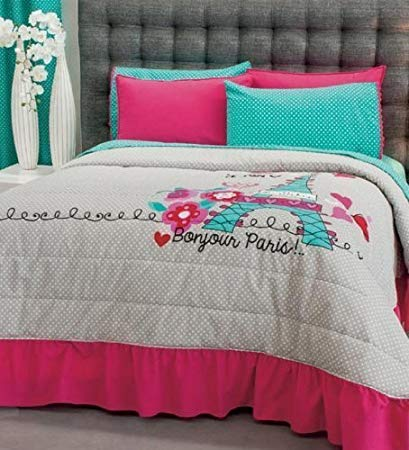 Hot Seller PARIS Decorative Bedspread Set and Sheet Set (TWIN)