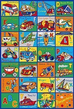 PR'S 8FTX11FT KIDS EDUCATIONAL/PLAYTIME RUG 7FT.4INX10FT.4IN (ABC Transportation)