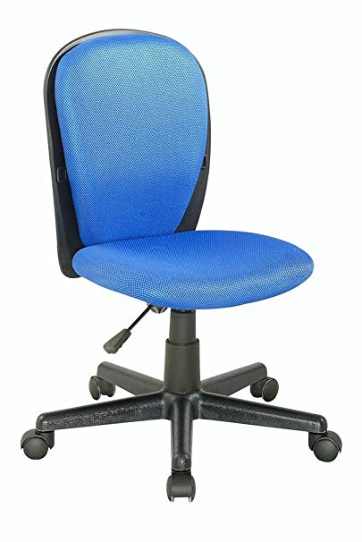 Youth Desk Chair with Fabric Back and Seat Blue