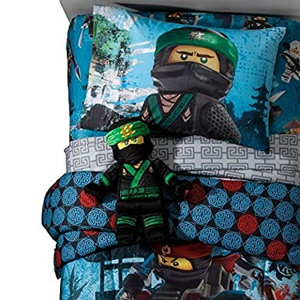 Lego Ninjago Twin Comforter and Sheet Set