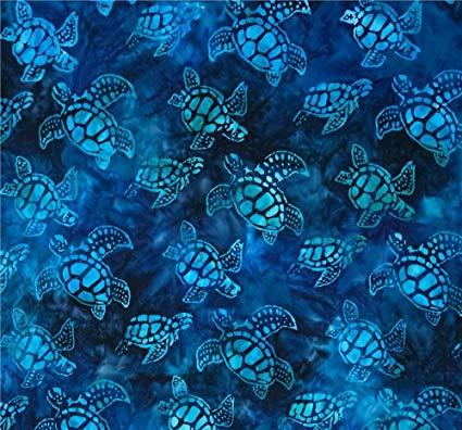 Lifetime Sensory Solutions 5 Foot Twin Weighted Blanket by, Weighted Sensory Blanket for Kids (12 lb for 110 lb user, Dark Blue Turtles Batik) Originally 174.99