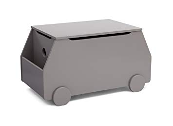 Delta Children Metro Toy Box, Classic Grey