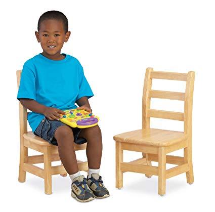 Jonti-Craft 5908JC KYDZ Ladder Back Chair, 8