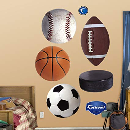 FATHEAD Assorted Sports Ball Graphics Graphic Wall Décor
