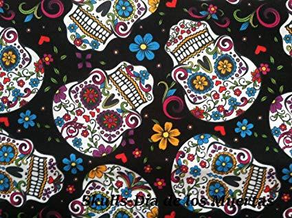 Mosaic Weighted Blanket Teen/Women Skull-Dia De Los Muertes (kids small 7 lb)