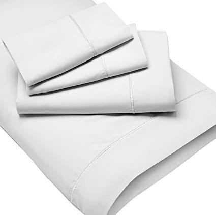 PureCare® PCSMF-CK-WH Luxury Microfiber Wrinkle Resistant Sheet Set, California King, White